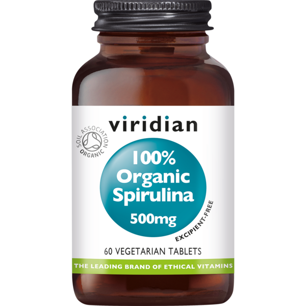 Organic Spirulina 500 mg tablets