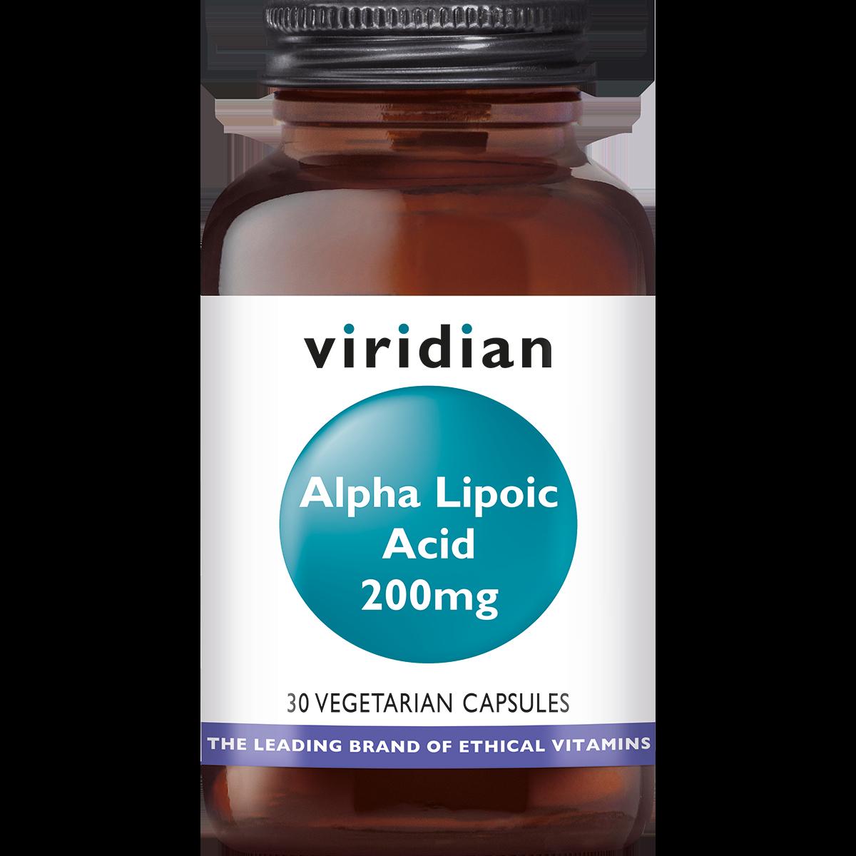 Alpha Lipoic Acid 200 mg, Viridian, Alfa liponzuur is een krachtige, zwavelhoudende antioxidant die tevens in staat is andere antioxidanten te doen hergebruiken.