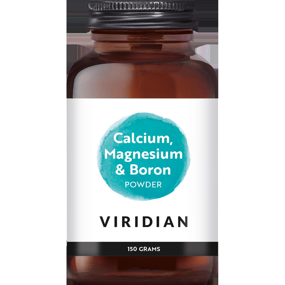 Calcium Magnesium with Boron, Viridian, Voor het behoud van sterke botten In poedervorm